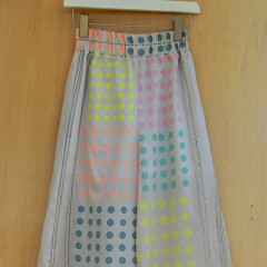 Multicolor  Dot Print wide Pants