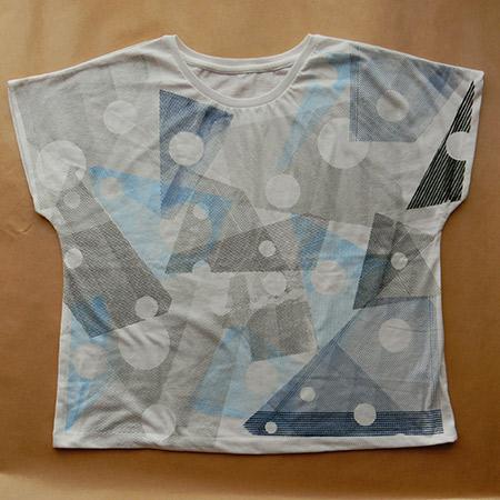Blue Gray Print