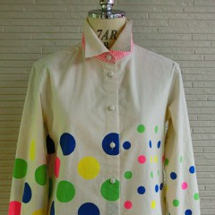 MIX DOT L/S Blouse(Muticolor)