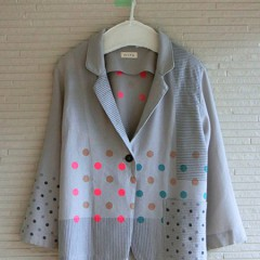 Dot Print wool Jacket