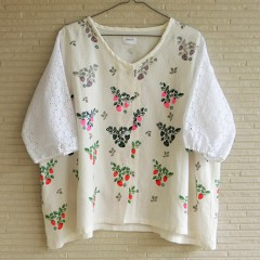Strawberry Print Lace Cardigan