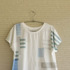 STRIPE MIX Print F/S T