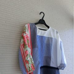 Flower Patchwork Blouse