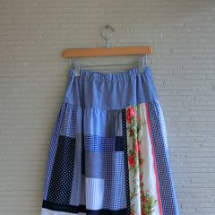 Flower pantchwork Skirt