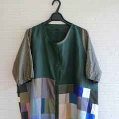 Patchwork Linen Cardigan