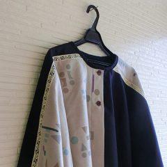 Short Poncho(hand Print Ver.)