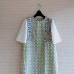 Flower jacquard S/S Dress