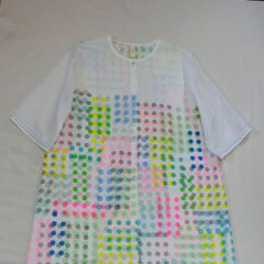 Multicolor Dot Print Long Shirts