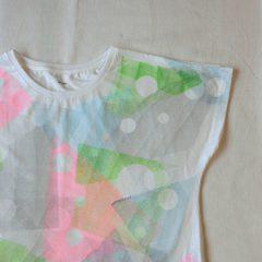 Stripe Moon Print (Pale Color) F/S T