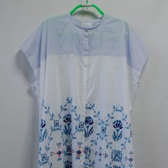 BIG BLOUSE(WHITE TILES PRINT)